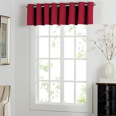 Newport Grommet Window Curtain Valance
