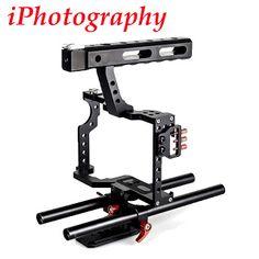 DSLR Rod Rig Camera Video Cage Kit & Handle Grip CS-V5 for Sony A7 A7r A7s II A6300 A6000 For Panasonic GH4 (32719621592)  SEE MORE  #SuperDeals