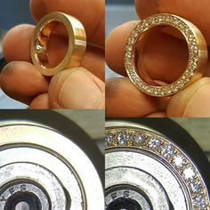 #handmade #wedding #gold #ring with 1mm #diamonds #stonesetting #edelsteinfasser #köln Metal Jewelry Making, Jewelry Tools, Wire Jewelry, Jewelry Art, Beaded Jewelry, Silver Jewelry, Handmade Jewelry, Jewelry Design, Jewlery