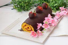 Rotolo con confettura di fragole e cioccolato