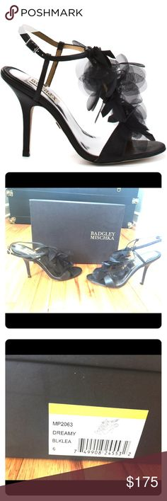 Size 6 Badgley Mischka Dreamy Heels Worn once to a wedding, therefore some scuffing on bottom of shoe. Excellent condition, comes with box. Runs TTS. Fair and reasonable offers always welcome!! Badgley Mischka Shoes Heels