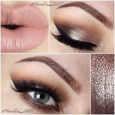 """vanilla_2607 using ABH's """"Shadow Couture"""" palette (""""Morocco"""" - Transition, """"Fudge""""- Outer V & Lower lash line, """"Pink Champagne"""" - Lid"""
