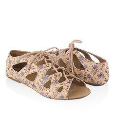 Floral Lace Up Sandals  €19.75