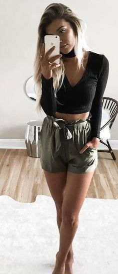#summer #ultimate #outfits |  Black + Olive