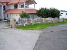 nz residential fencing - Google Search Fencing, Deck, Google Search, Outdoor Decor, Home Decor, Fences, Decoration Home, Room Decor, Front Porches