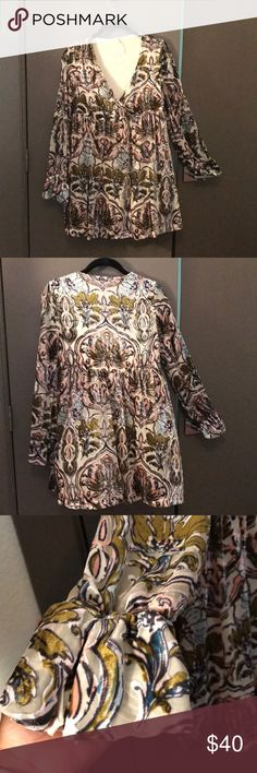 Free people floral dress Long sleeve floral dress great for fall Free People Dresses Midi