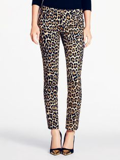 For a day when you want to be anything BUT a wallflower: Women's broome street denim in ikat disco animal print by @kate spade new york