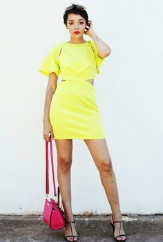 Yellow Dress, Pink Bag Brett Robson