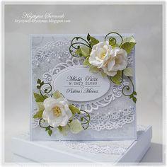 Krystynas i jej papierowy świat: Młodej Parze Handmade Crafts, Diy And Crafts, Paper Crafts, Cute Cards, Diy Cards, Mixed Media Cards, Handmade Envelopes, Shabby Chic Cards, Heartfelt Creations