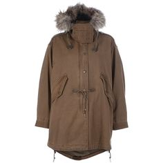 BURBERRY BRIT Hooded parka ($942) ❤ liked on Polyvore