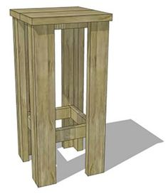 How to make a barstool from scaffolding.