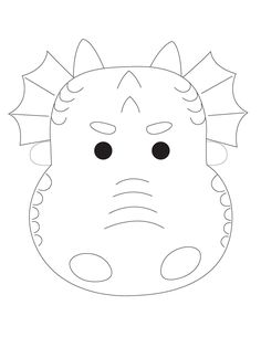 Dragon mask for coloring. Also includes 5 different
