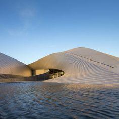The whirlpool-shaped Blue Planet aquarium by Danish studio 3XN has opened to the public in Copenhagen!