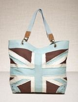 Brown and Quail Egg Union Jack - My summer bag.  I'm celebrating all things England in honor of the Olympics :)