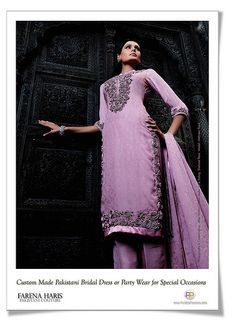 Pakistani Designer Dresses Salwar Kamees Shalwar Kameez Wedding Bridal Dress or Special Party Wear. Ethnic Haute Couture. Modern and Traditional Designer Fusion Apparel Now Available at FaridasPassions.com