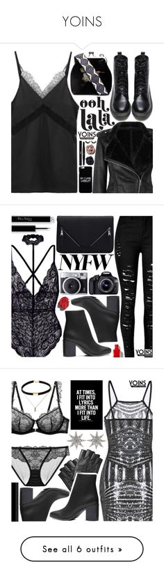 """YOINS"" by pastelneon ❤ liked on Polyvore featuring Yves Saint Laurent, Eos, Karl Lagerfeld, Bee Goddess, Dolce&Gabbana, By Terry, Rebecca Minkoff, Ron Hami, neutrals and sweaterweather"