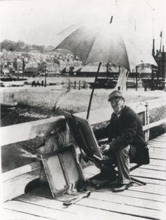French painter Eugène Boudin (1824-1898) at Deauville-Trouville, June 1896
