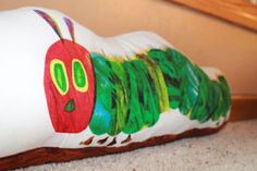 The Very Hungry Caterpillar Long Pillow/Draft Stopper - Oh, how I wish I were crafty! Door Draught Stopper, Draft Stopper, Sewing Crafts, Sewing Projects, Diy Crafts, Book Area, Christmas Is Over, Long Pillow, Do It Yourself Crafts