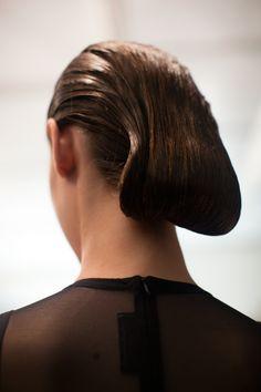 New York Fashion Week S/S 2013 Chado Ralph Rucci. Hair by Bb. Stylist Laurent Philipon