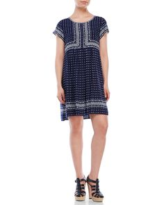Max Studio Printed Babydoll Dress