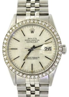 Vintage Rolex DateJust Stainless Steel 16014 Diamond Bezel Quickset 36mm Watch. Get the lowest price on Vintage Rolex DateJust Stainless Steel 16014 Diamond Bezel Quickset 36mm Watch and other fabulous designer clothing and accessories! Shop Tradesy now