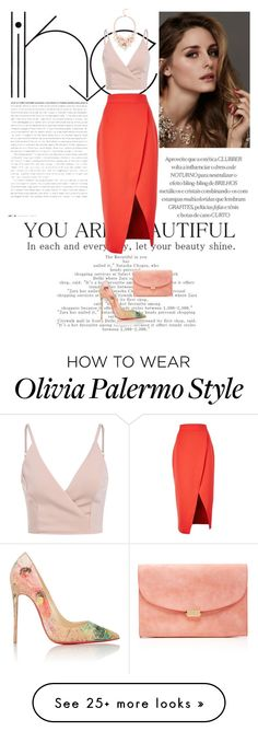 """""""You are beautiful."""" by nissaat on Polyvore featuring Beauty Secrets, C/MEO COLLECTIVE, Christian Louboutin, Mansur Gavriel and Ted Baker"""