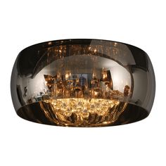 Lucide Modern Smoked Glass Circular Flush Ceiling Light With Crystals Ceiling Spotlights, Flush Ceiling Lights, Ceiling Lamp, Ceiling Lighting, Deco Luminaire, Direct Lighting, Flush Lighting, Cabin Lighting