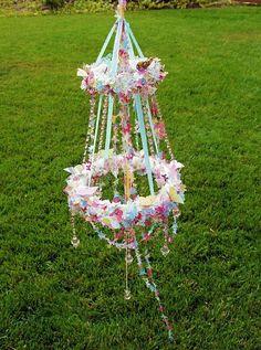 Beltane inspired flower chandelier