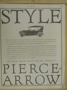 Pierce Arrow Auto Company Buffalo NY (1916). Grandpa Pete Allen worked here for a few years.