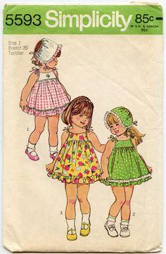 1970s Childrens Pattern Simplicity 5593 GIrls by GreyDogVintage, $7.00