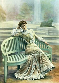 1902 nice striped dress