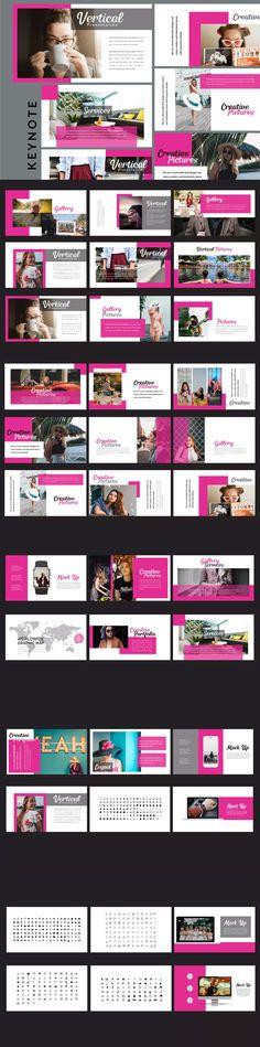 Vertical - Creative Keynote Template by putra_khan on Envato Elements Pamphlet Design, Ppt Design, Resume Design, Design Elements, Graphic Design, Presentation Slides, Presentation Design, Presentation Templates, Corporate Design