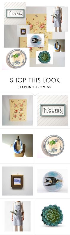 """""""Etsy Fresh Cut"""" by paperboysvintage ❤ liked on Polyvore featuring interior, interiors, interior design, home, home decor, interior decorating and vintage"""