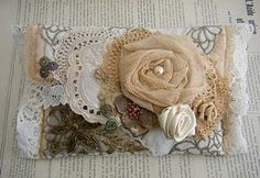 clutch from old lace placemats