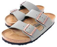 Birkenstock Arizona 2-Strap Women's Sandals in Stone Birko-Flor, Narrow Width, 38 N EU - 7-7.5 US Women *** Awesome outdoor product. Click the image - Birkenstock sandals