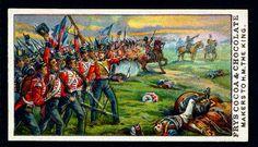 "https://flic.kr/p/82PvQ1 | Tradecard - Battle of Waterloo | Fry's, ""Days of Wellington"" 1906. No10 The Battle of Waterloo, 18th of June 1815."