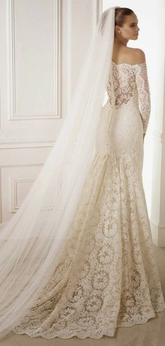 Winter Wedding Dresses #gown #fashion #elegant