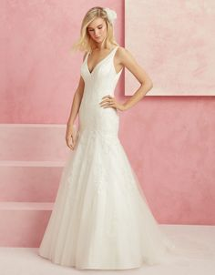 We're loving the sequins on this wedding dress from Beloved by @CasablancaBride!