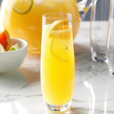 Champagne Party Punch Recipe -To make this punch even more festive, float an ice ring in the punch. —Taste of Home Test Kitchen, Milwaukee, Wisconsin Champagne Recipe, Champagne Cocktail, Refreshing Cocktails, Summer Drinks, Martini Recipes, Cocktail Recipes, Grinch Punch, Lychee Martini, Party Punch Recipes