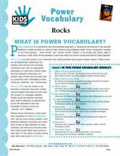 FREE 16-Page, Downloadable Vocabulary Packet for Kids Discover Rocks!