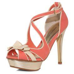 e6a76eba3f3 Coral platform sandals - Dorothy Perkins Coral High Heels