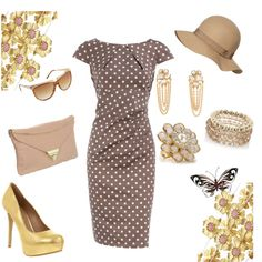 Spring Classic Style In Taupe & Gold, created by stigro