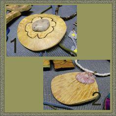 Beach-Inspired Gourd Pendants for sale on Etsy.