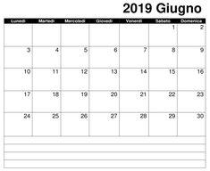 39 Best Calendario Giugno 2019 Images