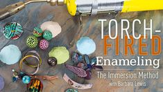 Make colorful enameled jewelry in mere minutes with simple, affordable tools. The class is 50% at $14.99. Includes 7HD videos with up close instructions.