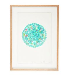 hello yellow - 'Audrey' Aqua Mandala print by Lumiere Art and Co stunning and ONLINE NOW