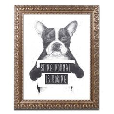 "Trademark Fine Art ""Being Normal Is Boring"" Ornate Framed Wall Art"