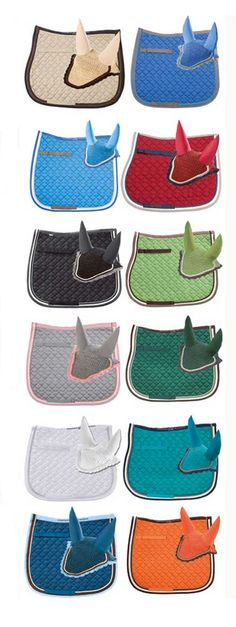 Matching saddle pads & bonnets from USA - every color imaginable!