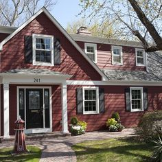 """Traditional Exterior """"red siding"""" Design Ideas, Pictures, Remodel and Decor"""