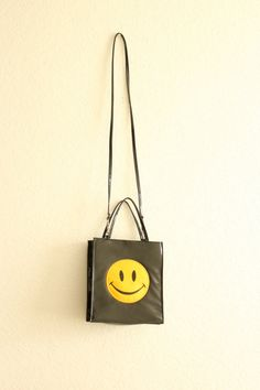 patent leather 90s smile smiley face shoulder by thezogettie, $35.00